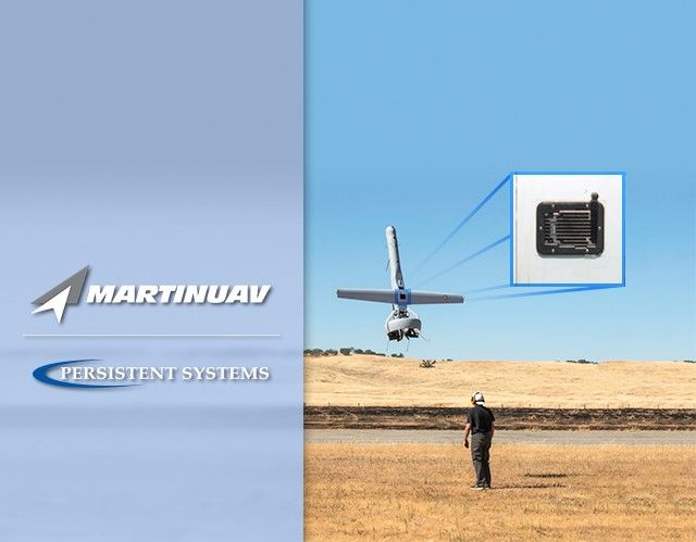 Martin UAV VTOL unmanned aircraft taps Persistent Systems Wave Relay data link technology