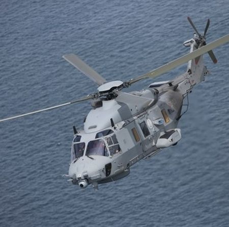 The NH90 military helicopter features a composite airframe with a large cabin, excellent power-to-weight ratio, and wide range of role equipment, officials say. Its quadraplex fly-by-wire flight control system enables reduced pilot workload and enhanced flight handling.