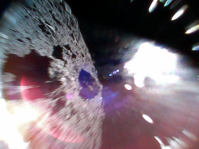 The compact MINERVA-II1 rovers, Rover-1A and Rover-1B, separated from the Hayabusa2 spacecraft on Sept. 21 at 13:06 Japan Standard Time (JST) and landed on Ryugu with a bounce. The two rovers are in good condition and are transmitting images and data, JAXA officials reveal. At least one of the two rovers is moving on the asteroid surface, the data confirms.