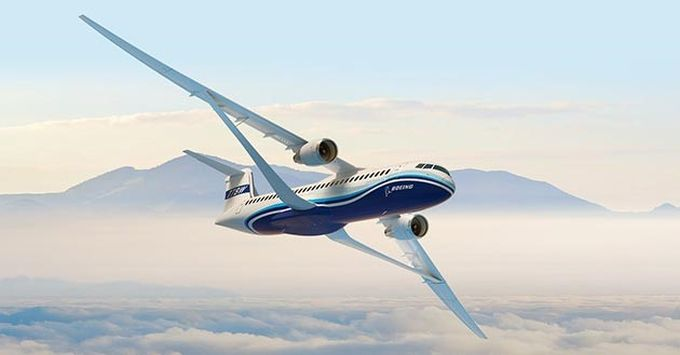 Engineers at Boeing and NASA are collaborating on a lightweight, ultra-thin Transonic Truss-Braced Wing (TTBW) concept, designed to be more aerodynamic and fuel-efficient than current designs, as part of the Subsonic Ultra Green Aircraft Research (SUGAR) program focusing on innovative aerospace concepts that reduce noise and emissions while enhancing performance.