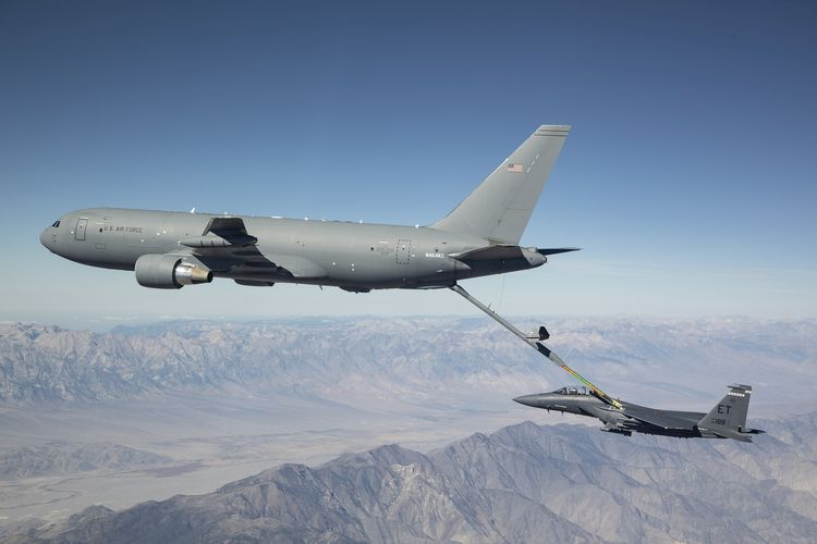Japan officials continue to boost the country's defenses against threats, exercising the option to add a second Boeing KC-46 Pegasus military aerial refueling and strategic military transport aircraft, based on the Boeing 767 commercial passenger jet, to the Japan Air Self-Defense Force's fleet of aircraft.