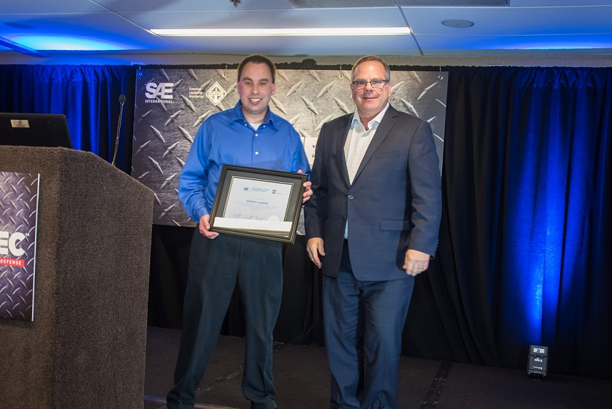 Volvo Construction Equipment Design Engineer Ii Stephen Lanahan Receives Sae Aem Outstanding Young Engineer Award