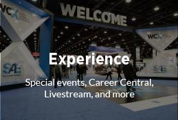 Sae World Congress >> WCX™ World Congress Experience