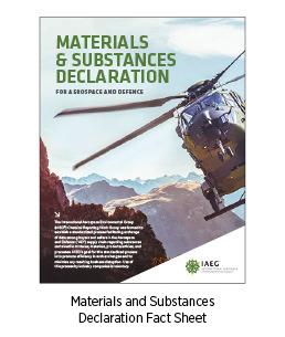 Materials & Substances Declaration