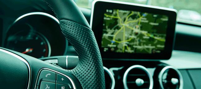 675x300 landscape steering wheel navigation system