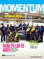 Momentum, the Magazine for Student Members of SAE International 2011-01-28