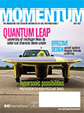 Momentum, the Magazine for Student Members of SAE International 2011-09-29