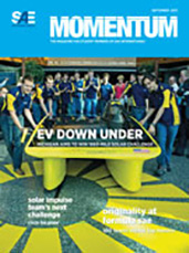 Momentum, the Magazine for Student Members of SAE International 2013-08-30