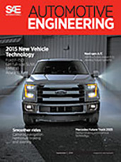 Automotive Engineering:  September 2, 2014