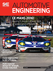 Automotive Engineering:  June 2, 2016