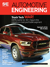 Automotive Engineering:  March 2018