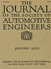 Journal of the S.A.E. 1926-01-01