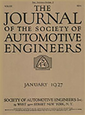 Journal of the S.A.E. 1927-01-01