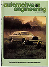 Automotive Engineering 1981-01-01