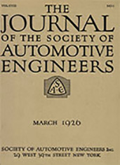 Journal of the S.A.E. 1926-03-01