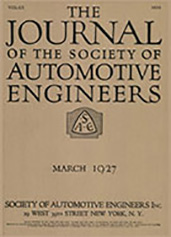 Journal of the S.A.E. 1927-03-01