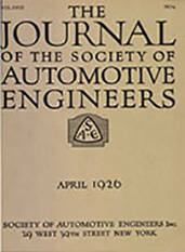 Journal of the S.A.E. 1926-04-01