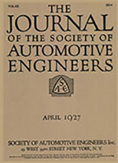 Journal of the S.A.E. 1927-04-01
