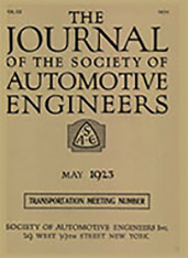 Journal of the S.A.E. 1923-05-01