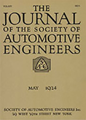 Journal of the S.A.E. 1924-05-01
