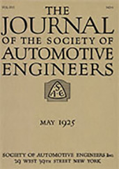 Journal of the S.A.E. 1925-05-01