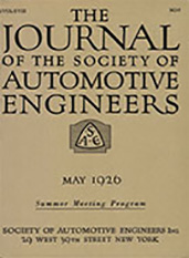 Journal of the S.A.E. 1926-05-01