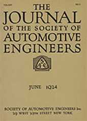 Journal of the S.A.E. 1924-06-01