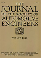 Journal of the S.A.E. 1922-08-01