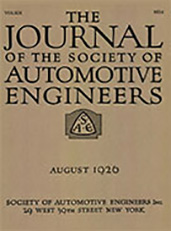 Journal of the S.A.E. 1926-08-01