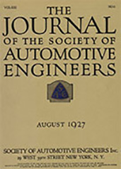 Journal of the S.A.E. 1927-08-01