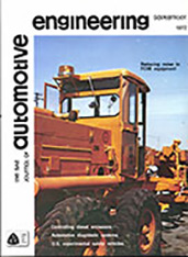 The S.A.E. Journal of Automotive Engineering 1972-09-01