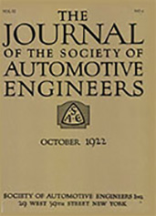 Journal of the S.A.E. 1922-10-01