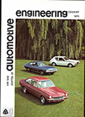 The S.A.E. Journal of Automotive Engineering 1970-10-01