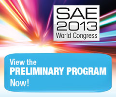 SAE 2013 World Congress Preliminary Program