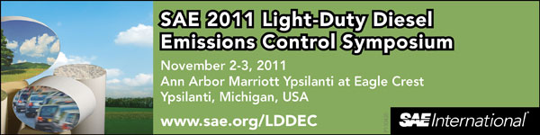 SAE 2011 Light Duty Diesel Emissions Control Symposium November 2-3, 2011 Ann Arbor Marriott Ypsilanti at Eagle Crest Ann Arbor, Michigan, USA