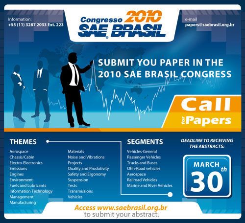 SAE Brasil Congresso 2010 Call for Papers