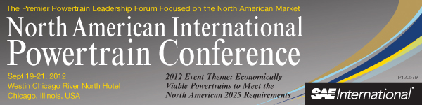 SAE 2012 North American International Powertrain Conference