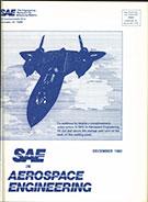 SAE in Aerospace Engineering 1982-12-01 - December 01, 1982