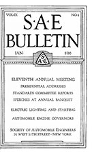SAE Bulletin 1916-01-01 - January 01, 1916
