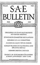 SAE Bulletin 1916-02-01 - February 01, 1916