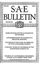 SAE Bulletin 1917-03-01 - March 01, 1917