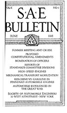 SAE Bulletin 1916-06-01 - June 01, 1916