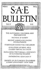 SAE Bulletin 1916-07-01 - July 01, 1916