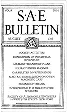 SAE Bulletin 1916-08-01 - August 01, 1916