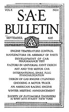 SAE Bulletin 1916-09-01 - September 01, 1916
