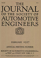 Journal of the S.A.E. 1927-02-01 - February 01, 1927