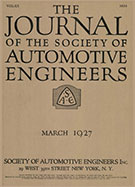 Journal of the S.A.E. 1927-03-01 - March 01, 1927