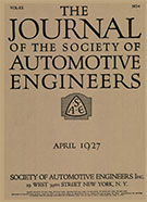 Journal of the S.A.E. 1927-04-01 - April 01, 1927