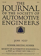 Journal of the S.A.E. 1927-06-01 - June 01, 1927