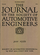 Journal of the S.A.E. 1926-07-01 - July 01, 1926